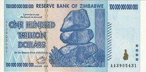 100 Billionen Zimbabwe-Dollar
